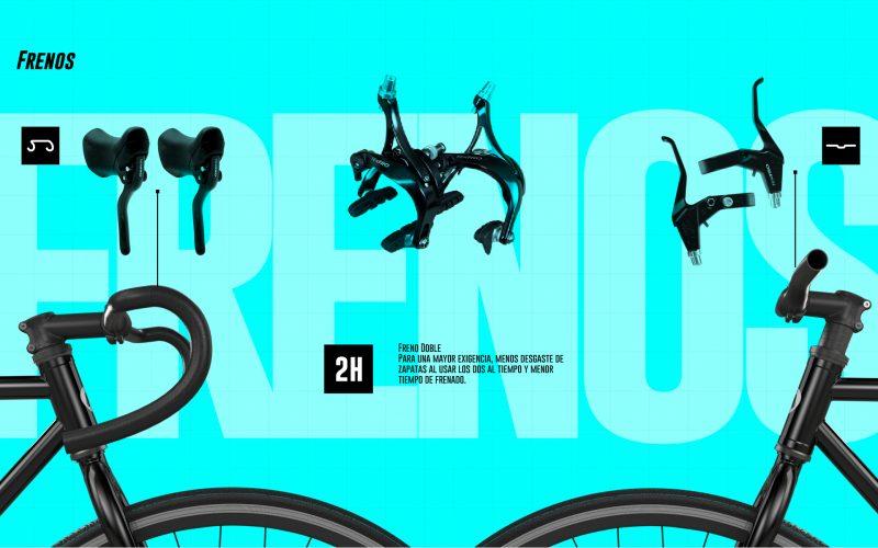 Tipo de frenos para bicicleta fixie